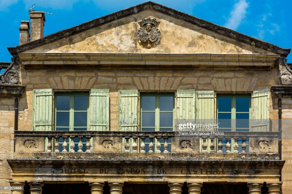Hotel du Baron de Castille, Uzes, Gard, Occitanie, France : Stock Photo
