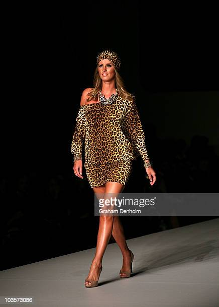 Hotel heiress Nicky Hilton showcases designs on the catwalk during the Charlie Brown show as part of Rosemount Sydney Fashion Festival 2010, at...