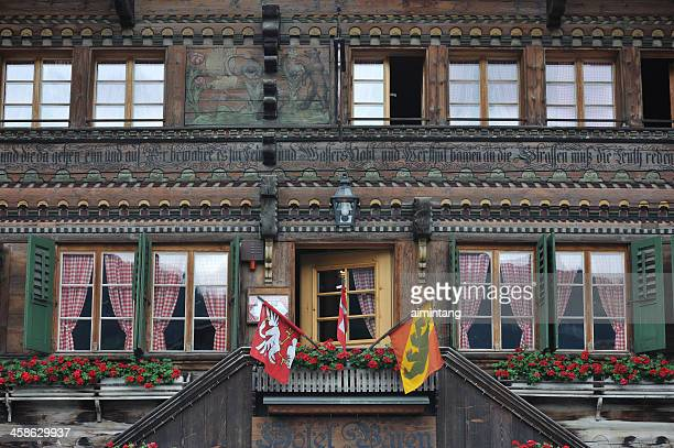hotel in leysin - leysin stock photos and pictures