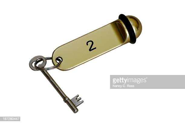 Hotel Key, Old Fashioned, Bed-and-Breakfast, Lodging, European, Skeleton-Key, Isolated