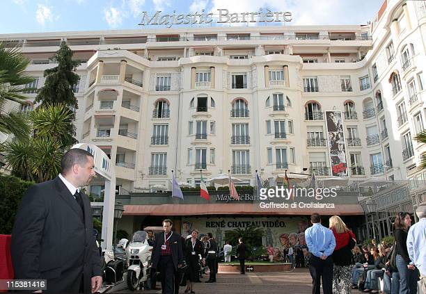 Hotel Majestic Barrier during 2005 Cannes Film Festival Atmosphere Day 6 in Cannes France