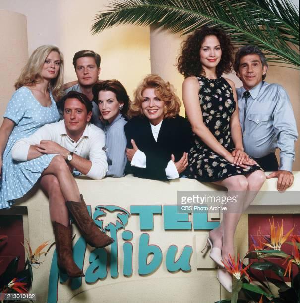 "Hotel Malibu"" cast members shown here are Romy Windsor , John Dye, Harry O'Reilly, Cheryl Pollak, Joanna Cassidy, Jennifer Lopez and Pepe Serna...."