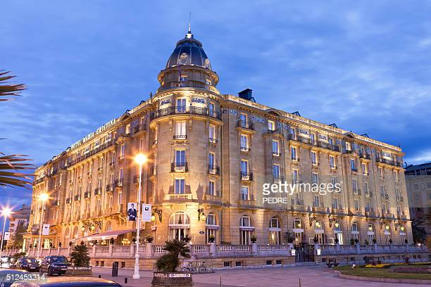 Hotel María Cristina en puesta de sol