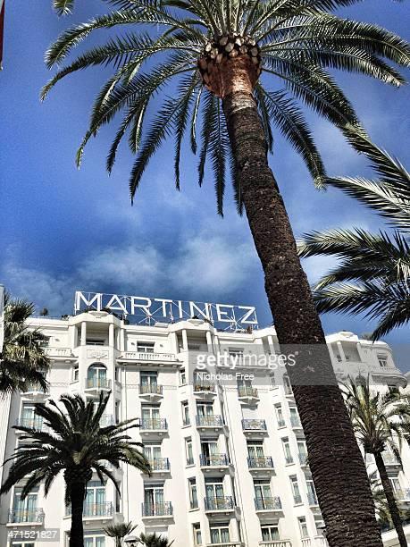 hotel martinez - cannes stockfoto's en -beelden