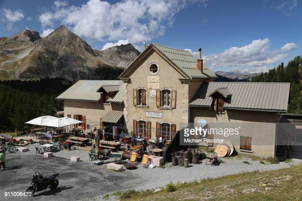 hotel on Col d`Izoard in the Alpes