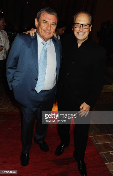 Hotel owner Sol Kerzner and Jerry Inzerillo attend a party for the grand opening of Mazagan Beach Resort on October 30 2009 in El Jadida Morocco...