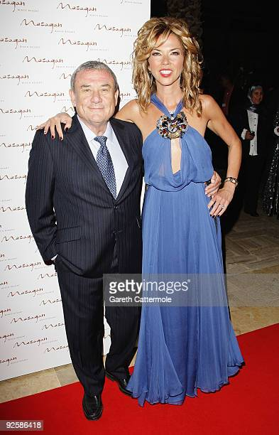 Hotel owner Sol Kerzner and wife Heather Kerzner arrive for the grand opening night of the Kerzner Mazagan Beach Resort on October 31 2009 in El...