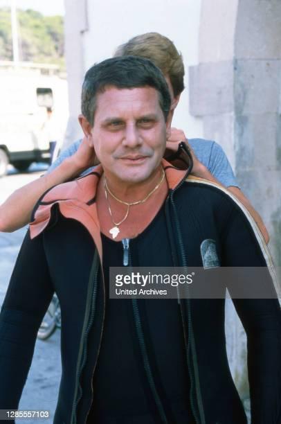 Hotel Paradies, Fernsehserie, Deutschland 1988 - 1990, Szenendreh mit Taucher.