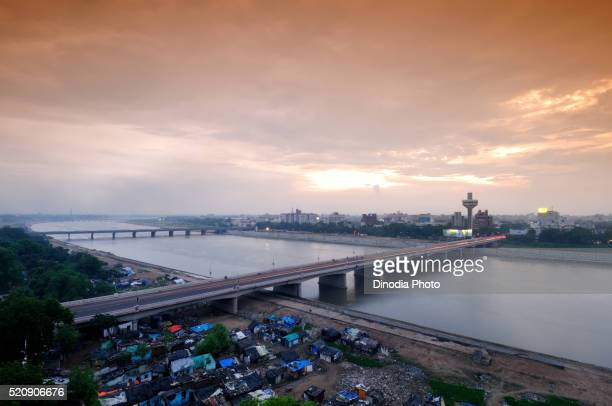 hotel patang on nehru bridge sabarmati river at ahmedabad, gujarat, india, asia - ahmedabad stock pictures, royalty-free photos & images