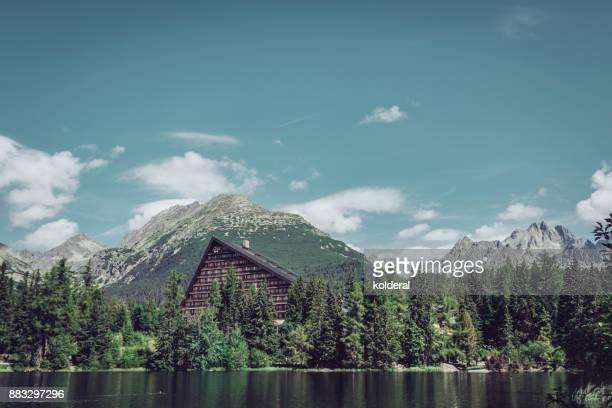 Hotel Patria on the lake Štrbské Pleso in Tatra Mountains