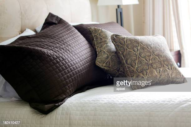 Hotel Pillows with selective focus and natural light