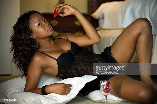 hotel pin up - black women stock photos and pictures