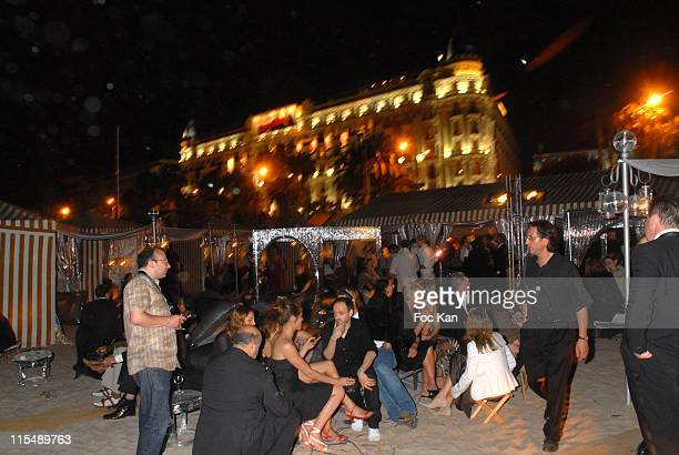 """Hotel Private Beach Atmosphere during 2007 Cannes Film Festival - """"Une Vieille Maitresse"""" Premiere After Party at 314 Hotel Plage in Cannes, France."""