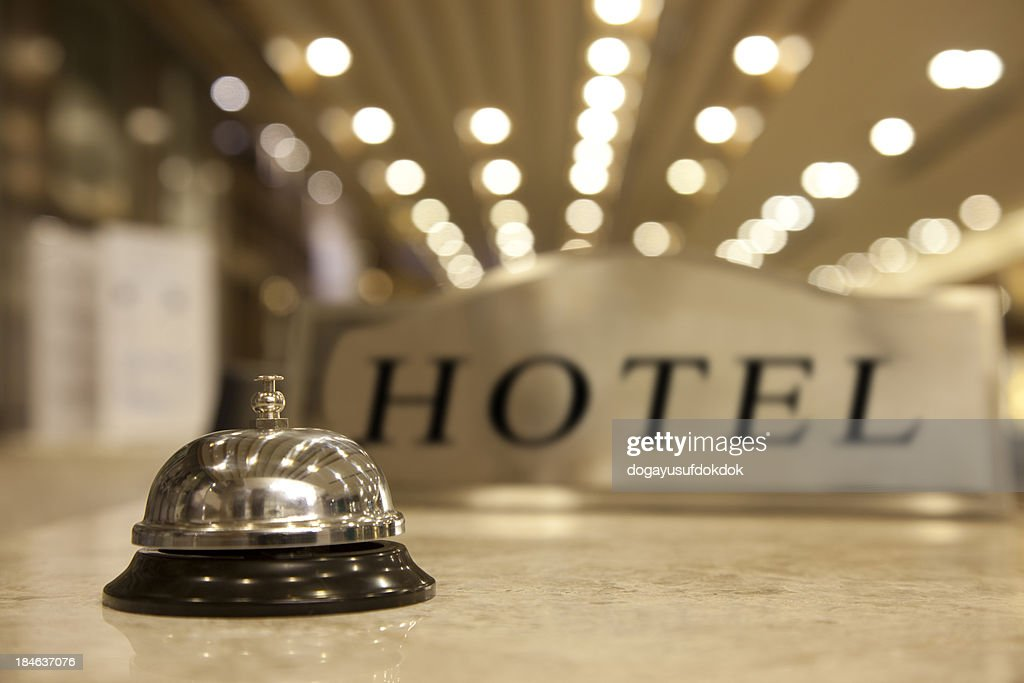 Hotel Reception Bell : Stock Photo