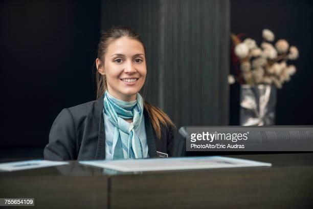 Hotel receptionist, portrait