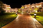 Hotel resort by night