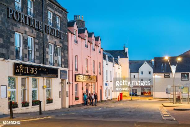 ホテル レストラン、バー ポートリー スカイ島スコットランド - ポートリー ストックフォトと画像