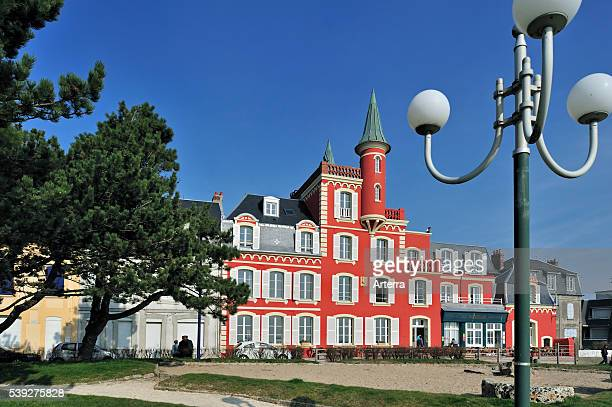 Hotel restaurant Les Tourelles at Le Crotoy Bay of the Somme Picardy France