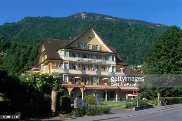 Hotel Schweizerhof Under Lush Mountain in Weggis, Switzerland