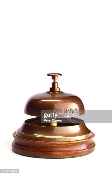 Hotel service bell with copy space