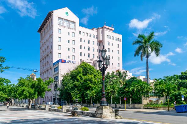Hotel Sevilla seen from Paseo del Prado, Havana, Cuba