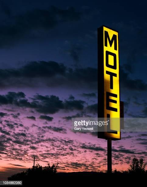 Hotel sign in the desert