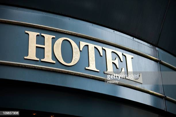 hotel sign - brass stock pictures, royalty-free photos & images