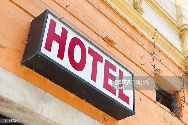 hotel sign - inexpensive stock photos and pictures