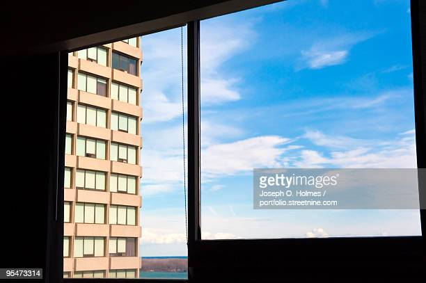 hotel sky and windows - joseph o. holmes stock pictures, royalty-free photos & images