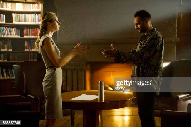 THE MAGICIANS Hotel Spa Potions Episode 202 Pictured Anne Dudek as Prof Pearl Sunderland Arjun Gupta as Penny