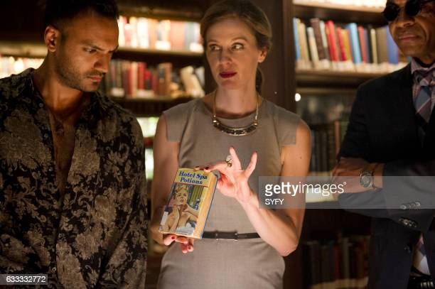 THE MAGICIANS 'Hotel Spa Potions' Episode 202 Pictured Arjun Gupta as Penny Anne Dudek as Prof Pearl Sunderland Rick Worthy as Dean Fogg