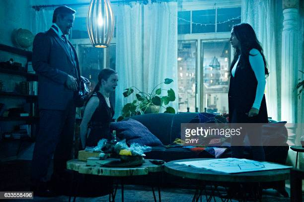 THE MAGICIANS Hotel Spa Potions Episode 202 Pictured Charles Mesure as The Beast Kacey Rohl as Marina Stella Maeve as Julia