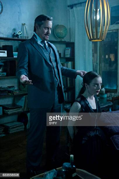 THE MAGICIANS Hotel Spa Potions Episode 202 Pictured Charles Mesure as The Beast Kacey Rohl as Marina