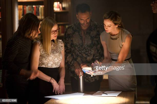 THE MAGICIANS 'Hotel Spa Potions' Episode 202 Pictured Jason Ralph as Quentin Olivia Taylor Dudley as Alice Arjun Gupta as Penny Anne Dudek as Prof...