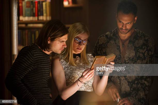 THE MAGICIANS Hotel Spa Potions Episode 202 Pictured Jason Ralph as Quentin Olivia Taylor Dudley as Alice Arjun Gupta as Penny