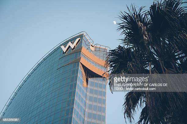 hotel vela - hotel w - letra w - fotografias e filmes do acervo