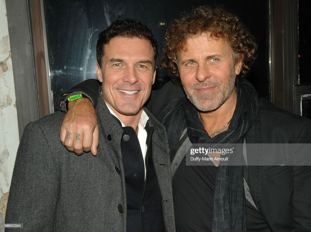 Hotelier and businessman Andre Balazs (L) and diesel CEO Renzo Rosso (R) attend Diesel Black Gold Fall 2010 cocktail reception during Mercedes-Benz Fashion Week on February 16, 2010 in New York City.