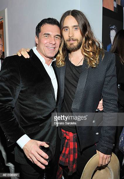 """Hotelier Andre Balazs and actor Jared Leto attend the W Magazine celebration of The """"Best Performances"""" Portfolio and The Golden Globes with Cadillac..."""