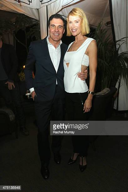 Hotelier Andre Balazs and actress Kelly Lynch attend The Annie Leibovitz SUMOSize Book Launch presented by Vanity Fair Leon Max and Benedikt Taschen...