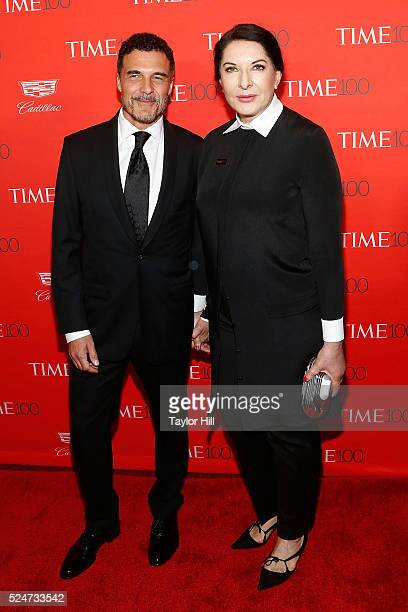 Hotelier Andre Balazs and performance artist Marina Abramovic attend the 2016 Time 100 Gala at Frederick P Rose Hall Jazz at Lincoln Center on April...