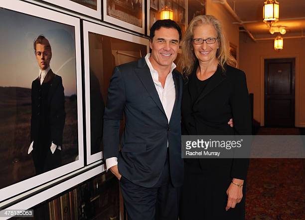 Hotelier Andre Balazs and photographer Annie Leibovitz attend The Annie Leibovitz SUMOSize Book Launch presented by Vanity Fair Leon Max and Benedikt...