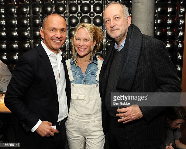 Hotelier Carlos Couturier, Heather Tierney and architect Enrique Norten attend the Surface Magazine And Microsoft's Surface 2 Present Design...