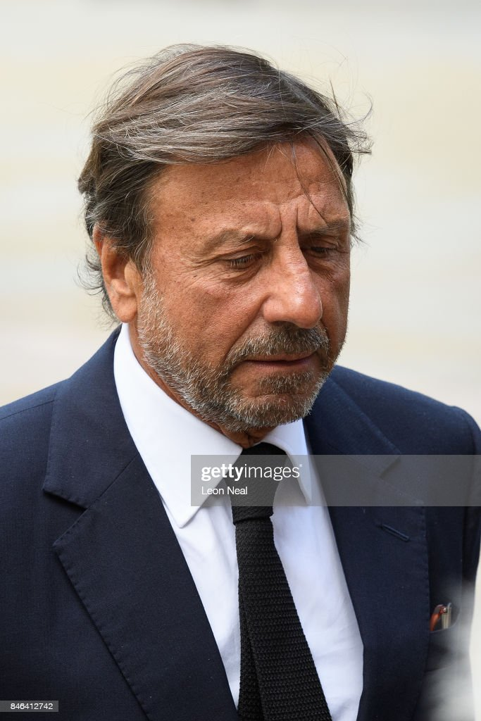 Hotelier Rocco Forte arrives at Westminster Cathedral for the funeral of the late British Cardinal Cormac Murphy-O'Connor, on September 13, 2017 in London, England. The 85-year-old died on September 1 after a battle with cancer.