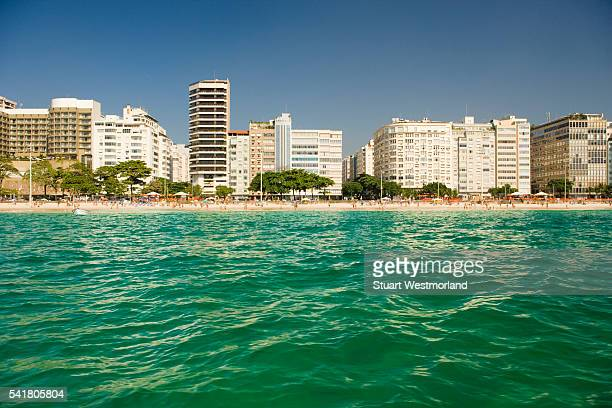 hotels and apartments on copacabana beach - copacabana stock pictures, royalty-free photos & images