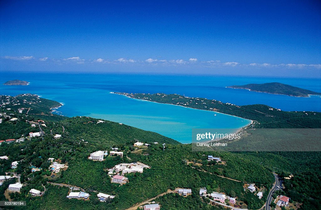 Hotels And Homes Above Magens Bay Stock Photo