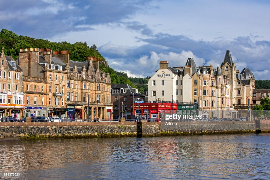 Hotels And S Along The Waterfront At Oban Argyll Bute Scotland Uk