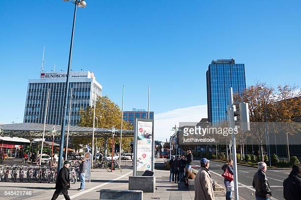 hotels and street königswall - dortmund city stock pictures, royalty-free photos & images