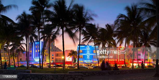 Hotels at Ocean drive, South Beach, Miami