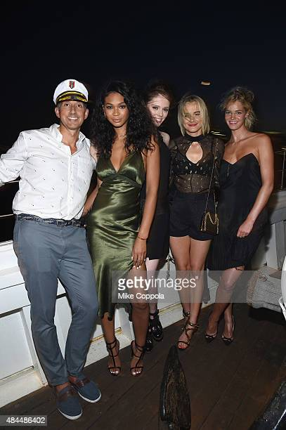 Hotels Global Brand Leader Anthony Ingham Chanel Iman Coco Rocha Taylor Schilling and Erin Heatherton attend All Aboard as W Hotels toasts the...