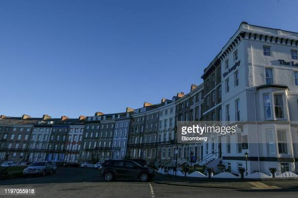 Hotels, holiday accommodation and residential housing line Royal Crescent in Whitby, U.K., on Sunday, Jan. 19, 2020. The fate of one of the Bank of...